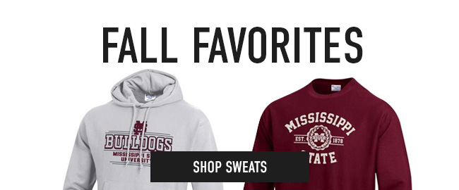 Picture of sweatshirts. Click to shop Sweats.