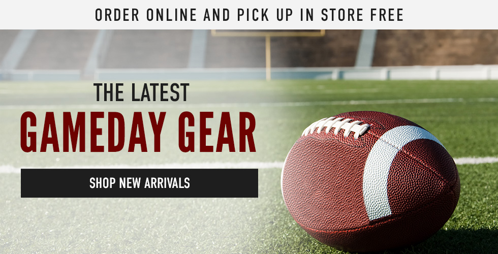 Picture of football. Order online and pick up in store free. The latest Gameday Gear. Click to shop New Arrivals.