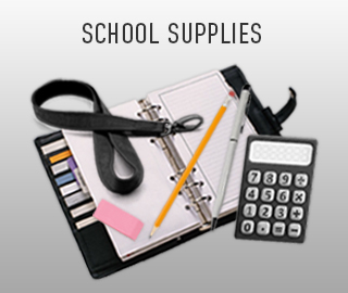 Picture of school supplies. Click to shop school supplies.